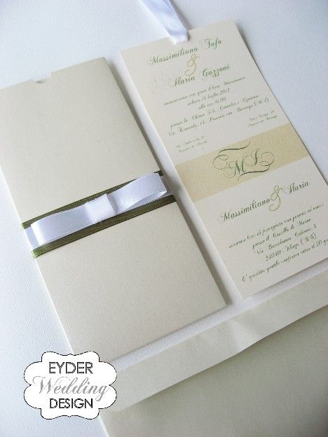 Partecipazioni Rettangolari - EYDER Wedding DESIGN