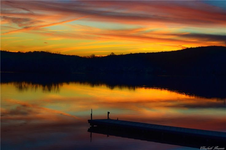 """AccuFan #Weather Photo of the Day: End of Sunset Beauty in NJ by """"elizabethbran"""" on 12/27/14 #photooftheday"""