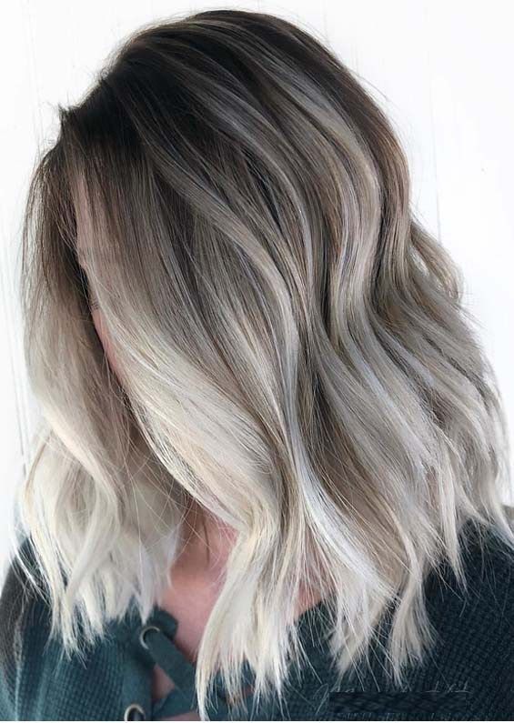 Unique Smokey Blonde Hair Colors For Medium Length Haircuts In