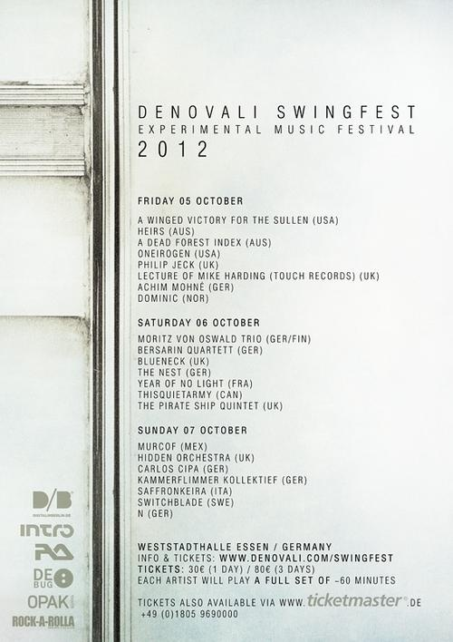 Denovali Swingfest (Essen, Germany)