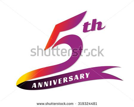 5th year anniversary template design