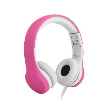 TAKEN - LilGadgets Connect+ Volume Limited Wired Headphones With Shareport | Pink | £16