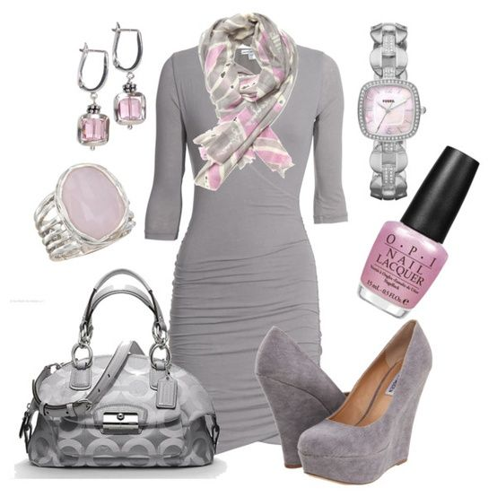 Fashion Worship | Women apparel from fashion designers and fashion design schools: Fashion, Style, Dream Closet, Night Outfit, Pale Pink, Pink Grey, Pink And Gray, Color Combination
