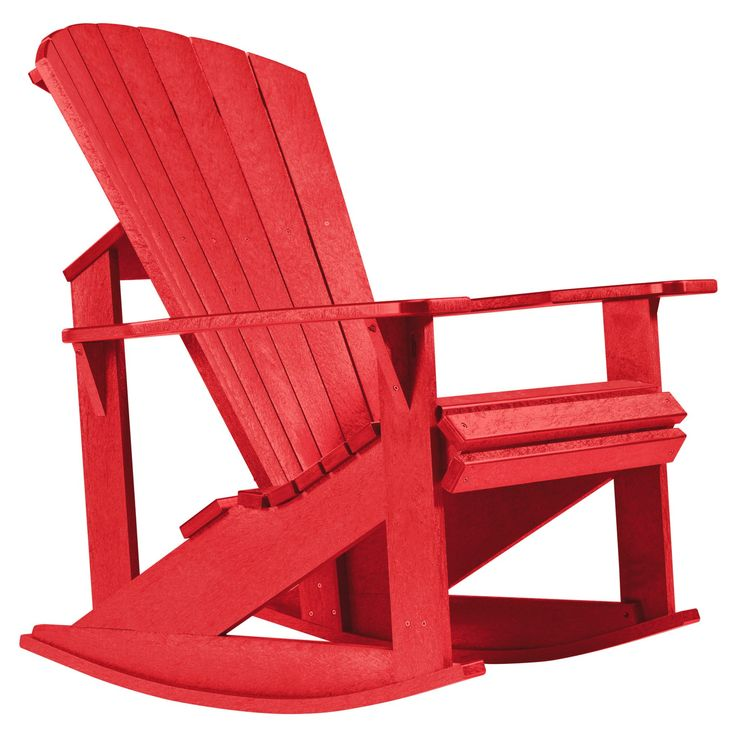 Outdoor CR Plastic Generations Recycled Plastic Adirondack Rocking Chair - C04-01