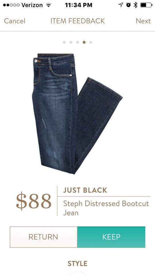 Just Black Steph Distressed Bootcut Jean