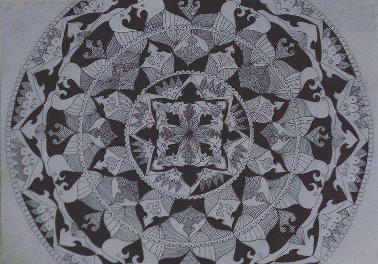 Took me 2 weeks.. Maybe more details later.. #mandala #amazing #art #pen #pencil #maker #drawing #mandalas #artbylawraah