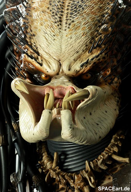Predator 1: Legendary Scale Predator Büste, Fertig-Modell ... http://spaceart.de/produkte/pr017.php