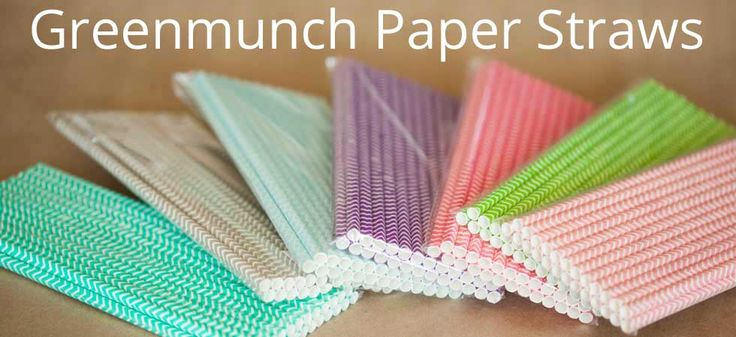 Greenmunch Chevron Paper Straws