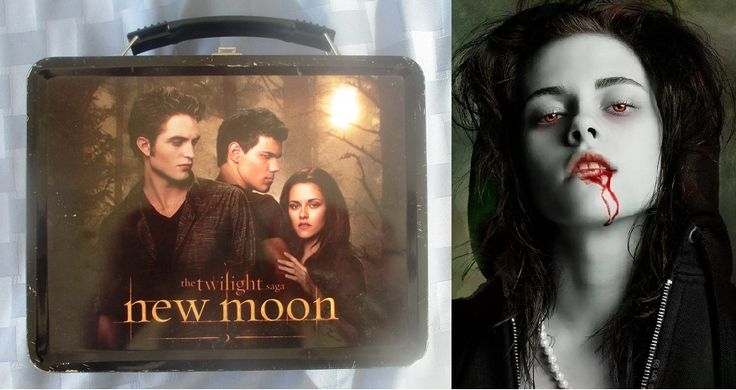 Lonchera de 'La saga Crepúsculo: Luna nueva', con la bella Bella hecha sándwich entre Edward y Jacob / Collectible empty lunch box 'Twilight Saga: New Moon' (Edward, Jacob, & Bella), empty