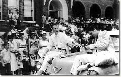 With Jimmie Rodgers Snow  Meridian, Mississippi. May 26, 1955 (Jimmie Rodgers Celebration Parade)