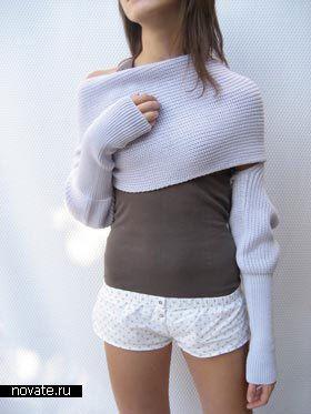 Sweater + scarf «Sciarpone»
