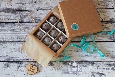 Печенье «Шоколадные трещинки слесным орехом» всветло-коричневой коробке — нажмите, чтобы увеличить