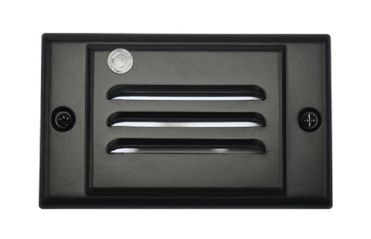 Black Horizontal Faceplate for NICOR LED Step Light with Photocell