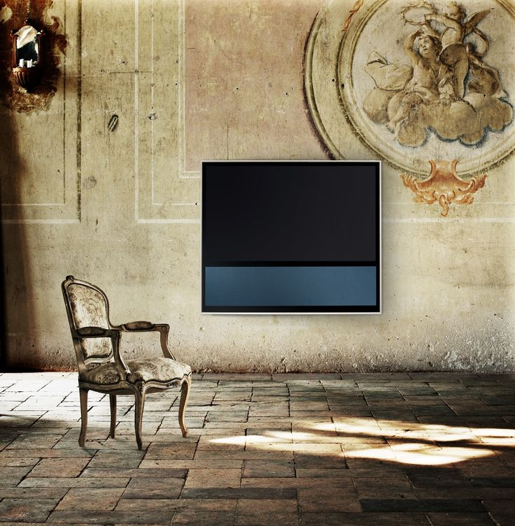BeoVision 11 complementing a classy interior in a old palace in Milan, Italy.