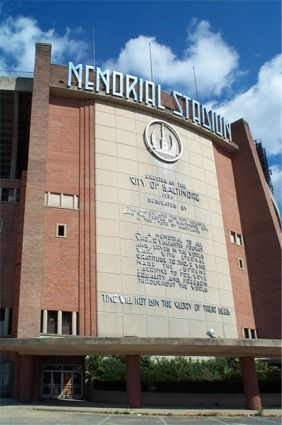 Memorial Stadium - History, Photos & More of the former NFL stadium of the Baltimore Colts & Ravens