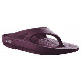 OOFOS Plum Sandals