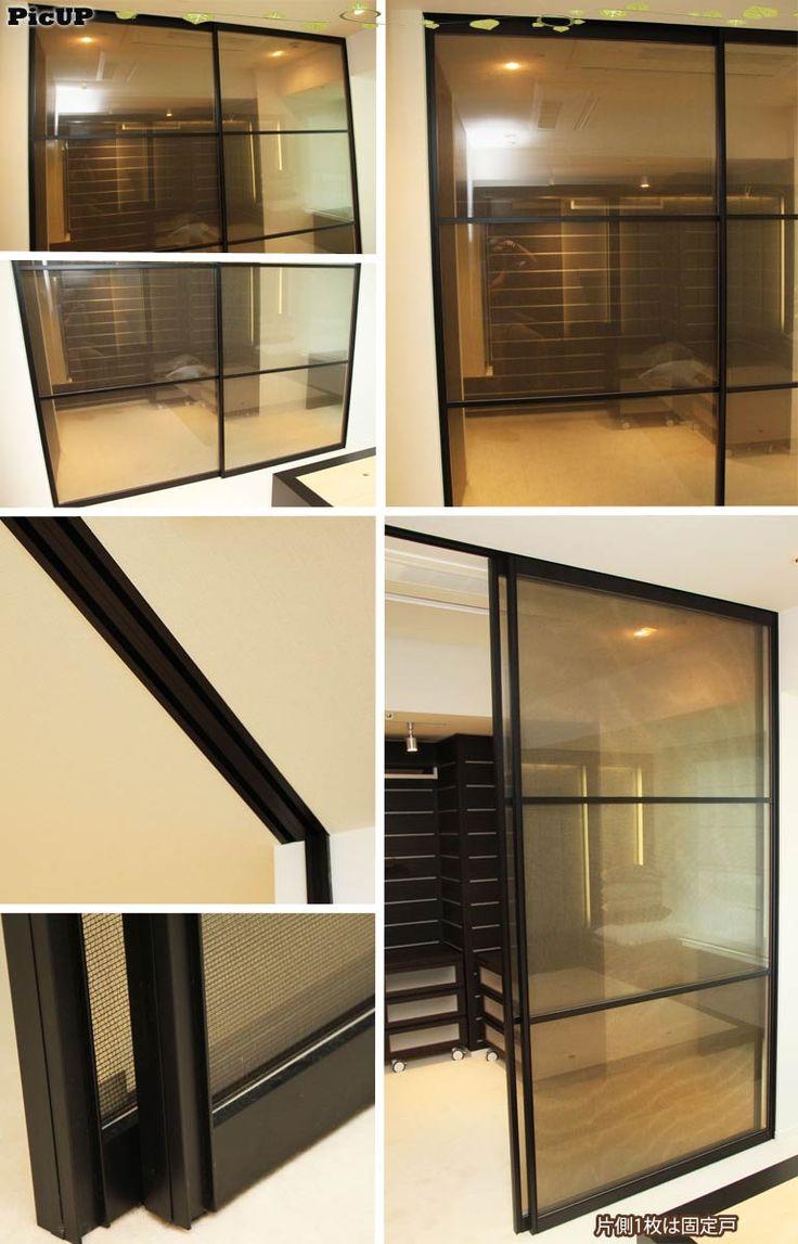 【楽天市場】建具/室内ドア/2枚ガラス引き戸/レール2530mmOG33:リユースサプライズ
