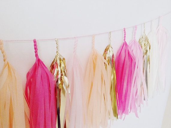 Three of my favorite things in one tassel garland ... A little peach, a little pink and whole lot of gold! You can use the Blushing Peach Tassel