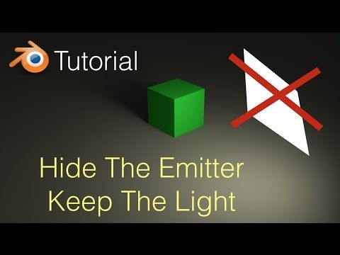 How To Hide The Emitter And Keep The Light Blender Tutorial - YouTube & 824 best Blender images on Pinterest | Blender tutorial Blender ... azcodes.com