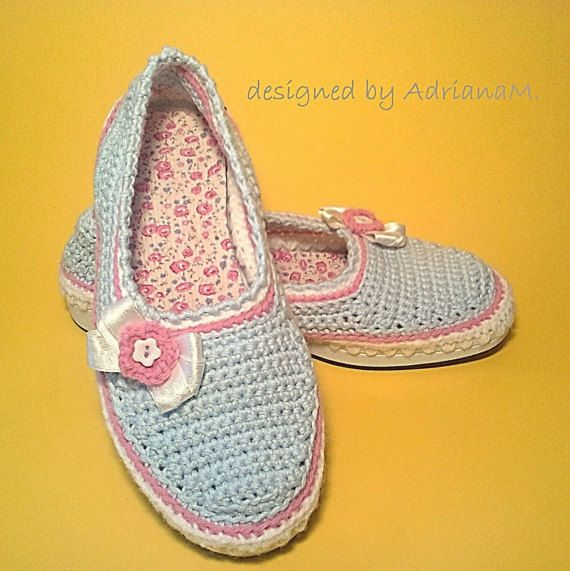 Outdoor women ESPADRILLES - PDF pattern for crocheting, instant download, step-by-step tutorial, crochet shoes