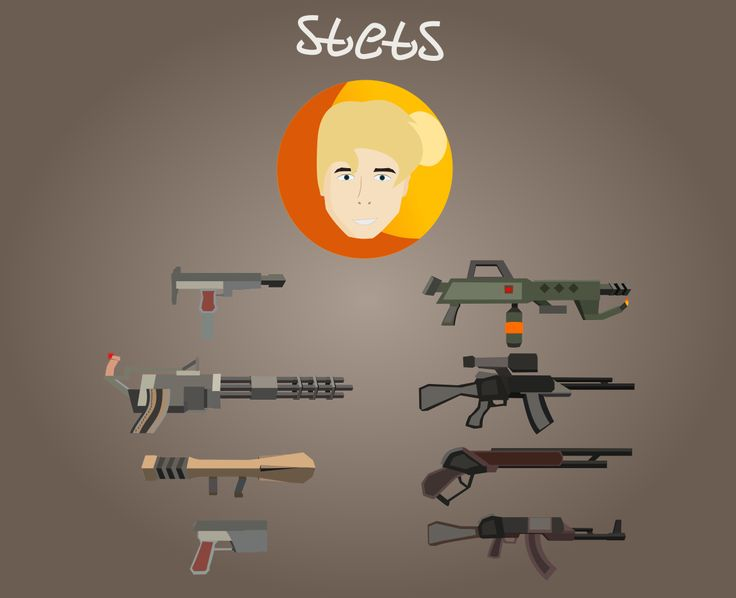 My new art)   #flat #gun #guns #ui #vector #lowpoly #Inkscape #drawing #game #mobile #design #stets #photoshop