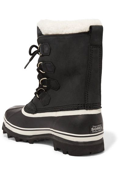 Sorel - Caribou Waterproof Leather And Rubber Boots - Black - US6.5