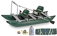 Small Inflatable Pontoon Fishing Boats | Sea Eagle 12-Foot 4-Inch FoldCat Inflatable Boat with Pro-Angler Package