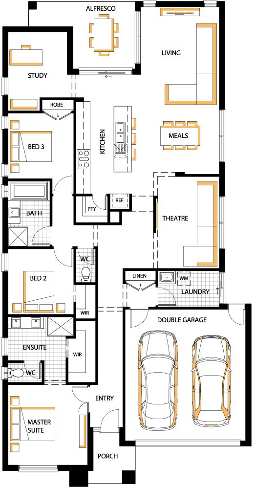 Carlisle homes.  big kitchen, separate toilet and ensuite.  study.