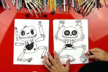 How to draw a skeleton!