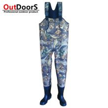 Shipping Free Custom camouflage waders fishing waders tailor made fishing boots hunting boots rubber hip wader OUTDOOR