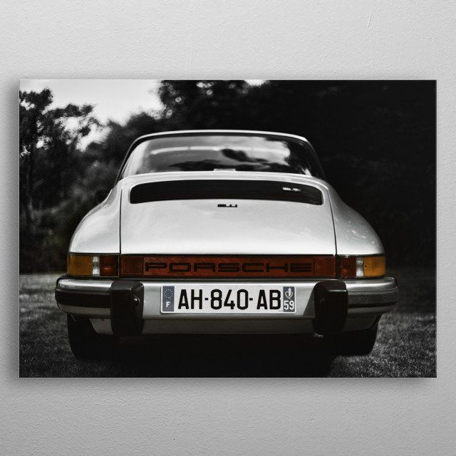Porsche 911 Targa By Benjamin Dupont Metal Posters Displate Porsche 911 Targa Metal Posters Wall Art Prints