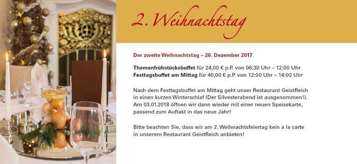 Reservieren Sie noch schnell unser Festtagsbuffet am Mittag für den 2. Weihnachtsfeiertag unter 0521 - 52 82 632 oder veranstaltungen@bielefelder-hof.de! #Weihnachten2017 #Christmastime #gutEssenundTrinken