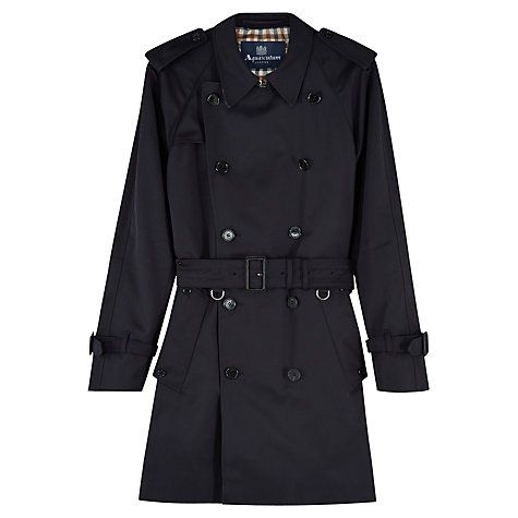 Buy Aquascutum Corby Double Breasted Raincoat Online at johnlewis.com