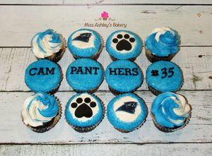 Carolina Panthers Cupcakes!