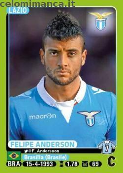 Calciatori 2014-2015: Fronte Figurina n. 280 Felipe Anderson