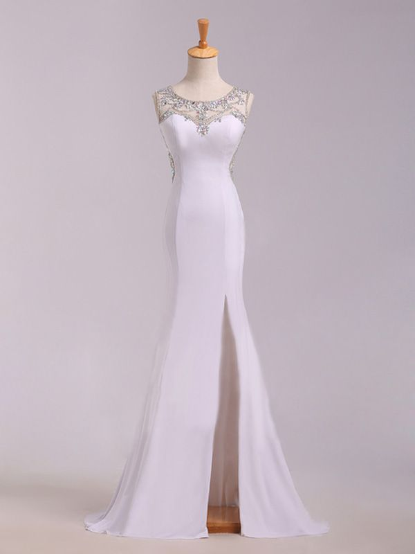 Trumpet/Mermaid+Scoop+Sleeveless+Chiffon+Prom+Dresses/Evening+Dresses+With+Rhinestone+#SP1215