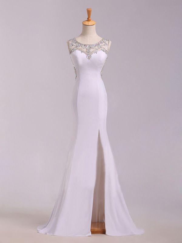 Trumpet/Mermaid+Scoop+Sleeveless+Chiffon+Prom+Dresses/Evening+Dresses+With+Rhinestone+#SP1215