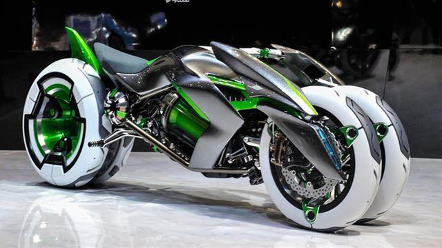 カワサキがタイムマシン実現、未来からバイクを盗ってくる Kawasaki concept bike