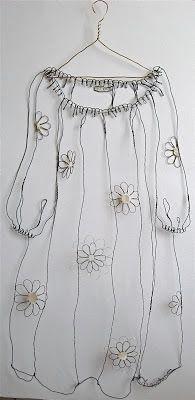 sculptural drawing by christina james nielsen: Free hanging sculptural drawings