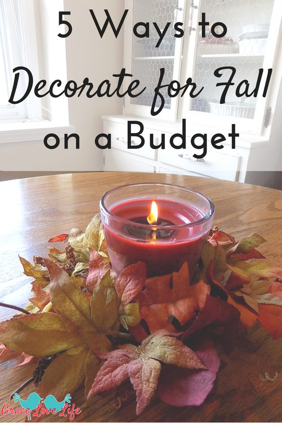 Decorating for fall on a budget is easy with these 5 tips. You'll love these cheap diy fall decorating ideas for your home and front porch.