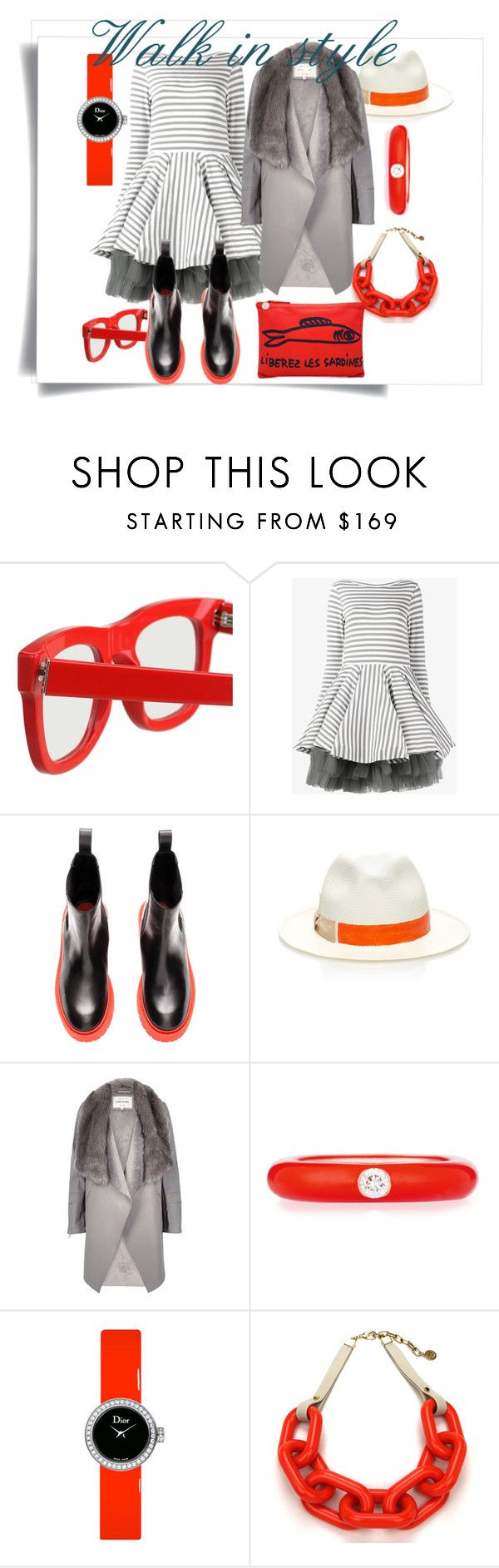 """""""Walk in style"""" by explorer-14748224046 ❤ liked on Polyvore featuring RetroSuperFuture, Natasha Zinko, Borsalino, River Island, Adolfo Courrier, Christian Dior and Clare V."""