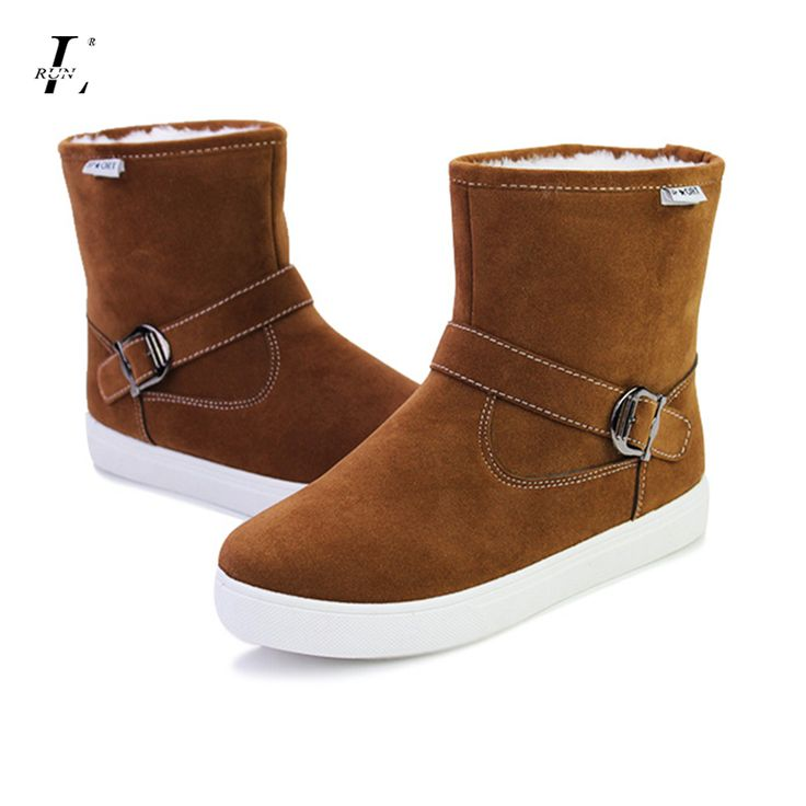 ==> [Free Shipping] Buy Best Mens Winter Sports Shoes Warm Snow Slip on Plush Inside Flats High Top Quality Brand Footwear Platform Shoes Non-slip Sneakers Online with LOWEST Price | 32755598121