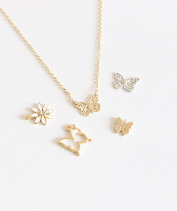 2458bf7ee3967 Butterfly necklace Gold Butterfly necklace Silver Butterfly necklace ...