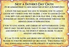 Not a fathers day oath – Barney Stinson
