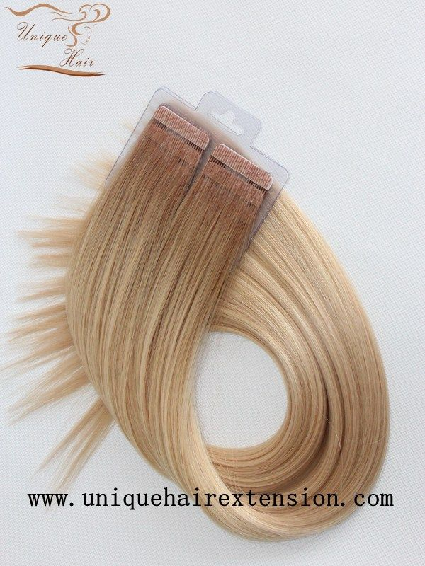 best tape hair extensions on the market, virgin Remy tape in hair extensions factory, we produce  Attractive tape hair extensions with amazing quality, reasonable price, produce for many hair extensions salons and online beauty store, hair extensions salons best choice, welcome to email Qingdao Unique Hair Products Co.,Ltd. for order.
