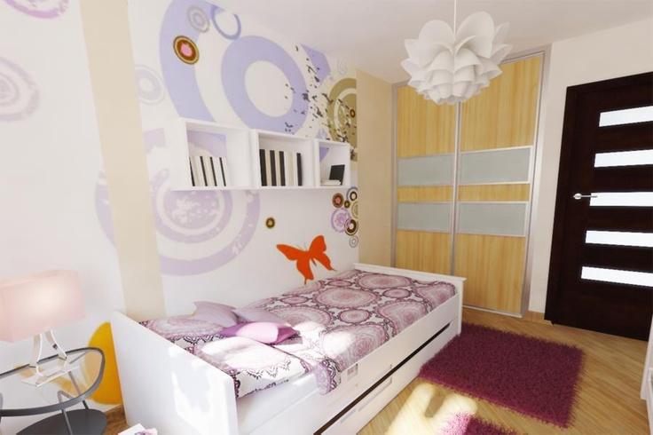 #pokój dla dziewczynki #kidsroom wg 3esdesign.pl