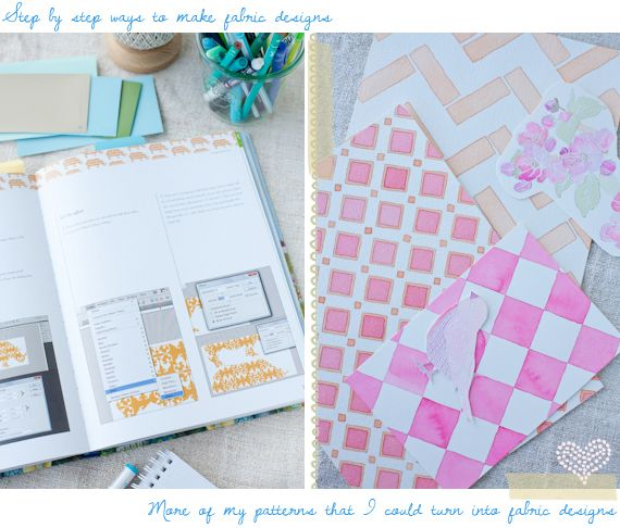 Book2, a Creative Mint: Squares Patterns, Pretty Patterns, Leslie Patterns, Watercolor Peaches, Paintings Patterns, Pink Patterns, Fabrics Prints, As Creative, Fabrics Design