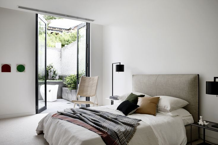 open and light bedroom