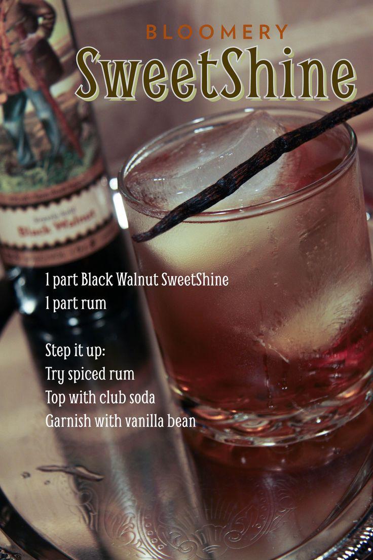 SweetShine, cocktail, moonshine, rum, mixology, Black