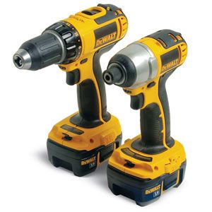 DeWalt's cordless drill (left) and impact driver (right).
